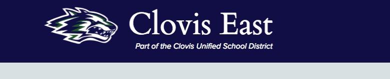 Clovis East High School banner