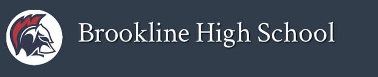 Brookline High School banner