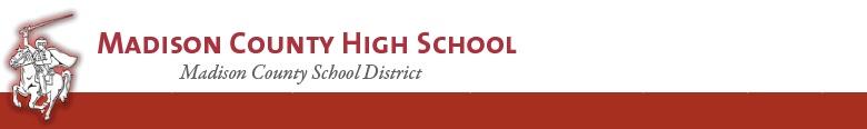 Madison County High School banner