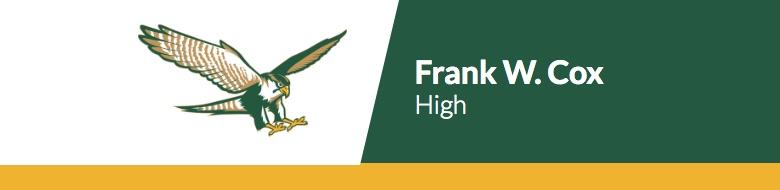 Frank W Cox High School banner