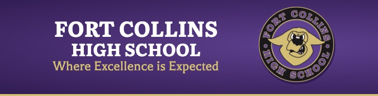 Fort Collins High School banner