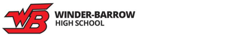 Winder-Barrow High School banner
