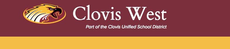 Clovis West High School banner